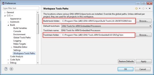Workspace Tools Paths