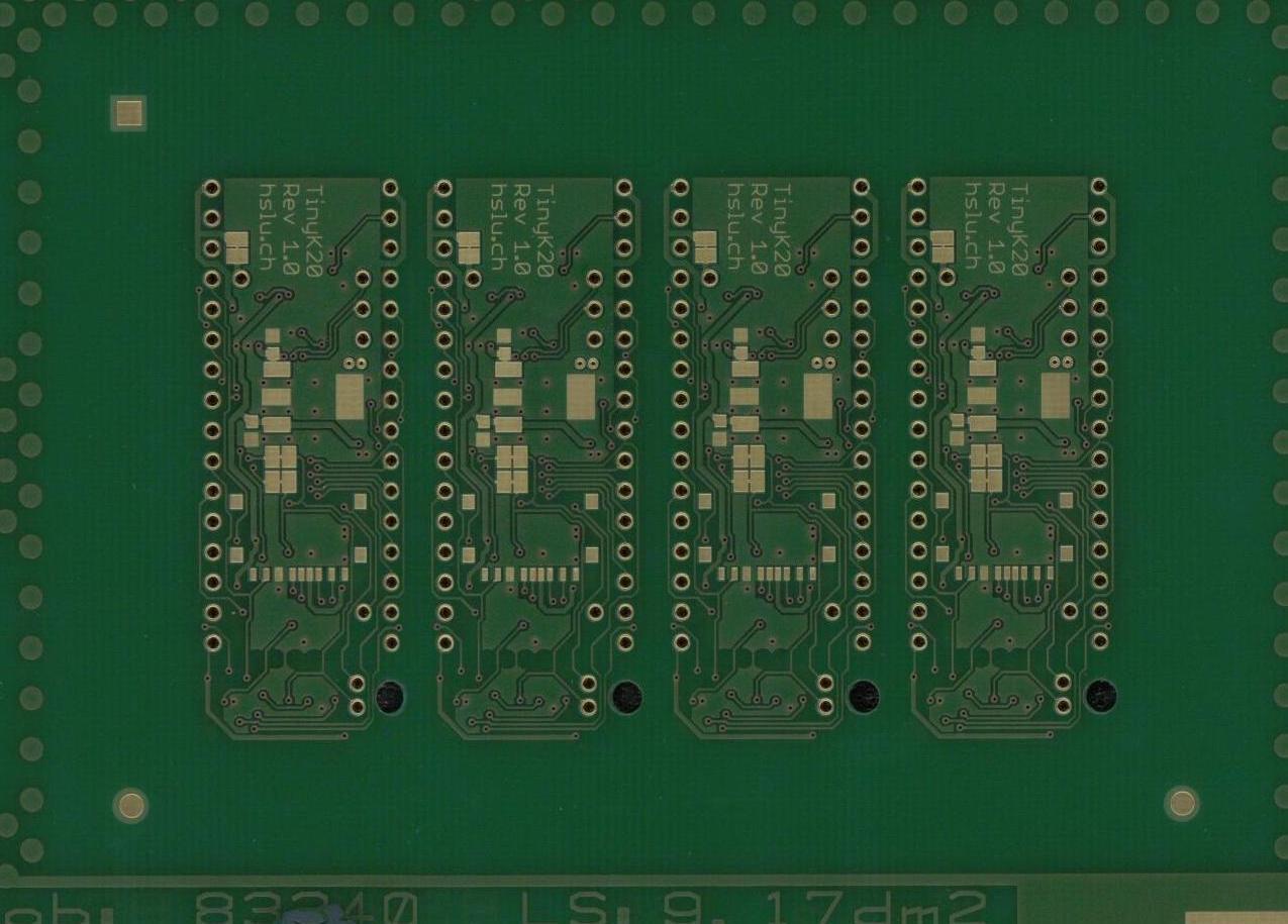 tinyK20 PCB Bottom