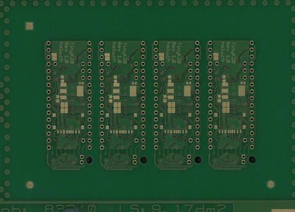 tinyK20 PCB Bottom