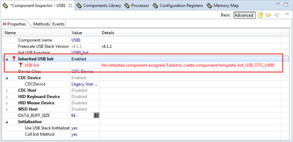 Error inheritied component assigned