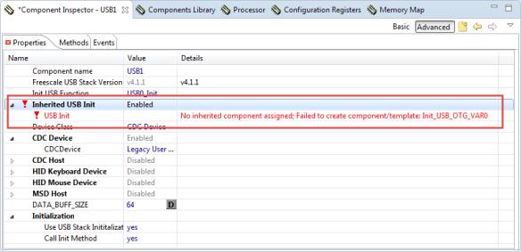 Error inheritied component assigned