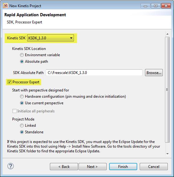 KSDK v1.3.0 Processor Expert Project
