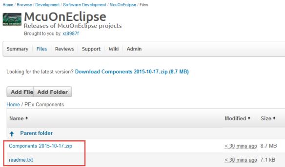 McuOnEclipse SourceForge Release 2015-10-17