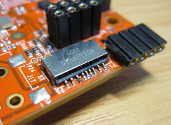 Soldered SD card socket