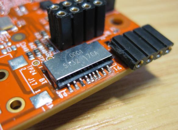 Soldered SD card socket