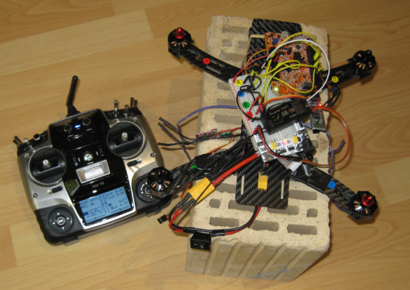 Kinetis Drone Test Setup with Graupner mx-16