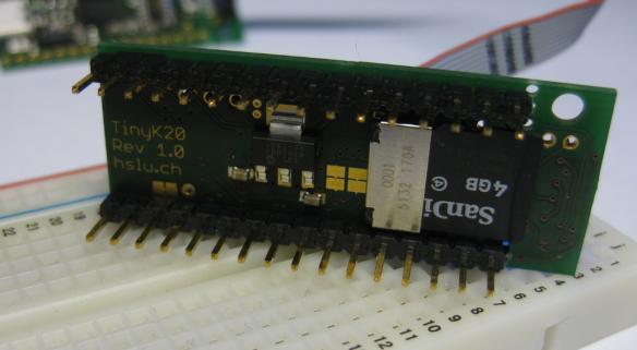 Micro SD Card Socket on TinyK20