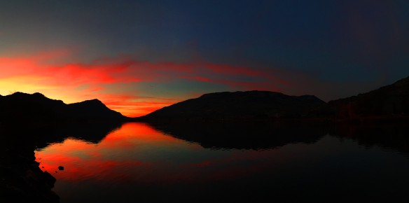 Red Rigi Sunset Panorama