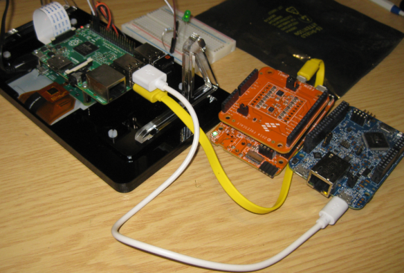 FRDM Boards connected to Raspberry Pi