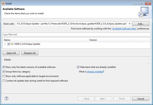 Installing SDK V1.3 Update in Eclipse