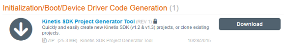 Kinetis SDK Project Generator