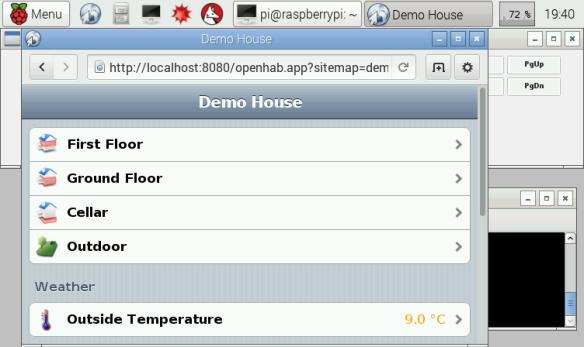 openHAB Demo House on Pi