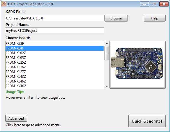 Tutorial: FreeRTOS Projects with Kinetis SDK V1 3 and the SDK