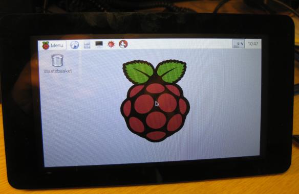 Rotated Raspberry Pi Display