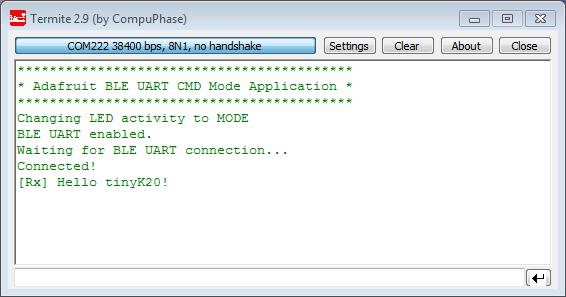 BLE UART Rx Message