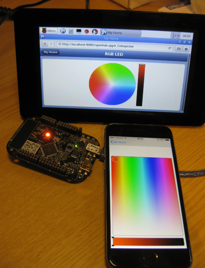 ColorPicker with openHAB and FRDM-KL25Z