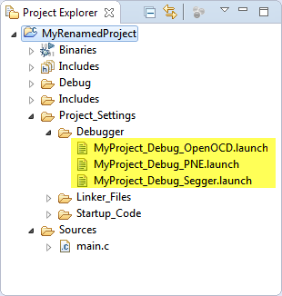 Debugger Launch Configuration Files