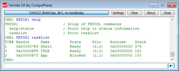 FreeRTOS tasklist command