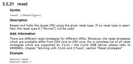 GDB Reset Types