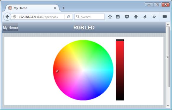 openHAB ColorPicker Widget