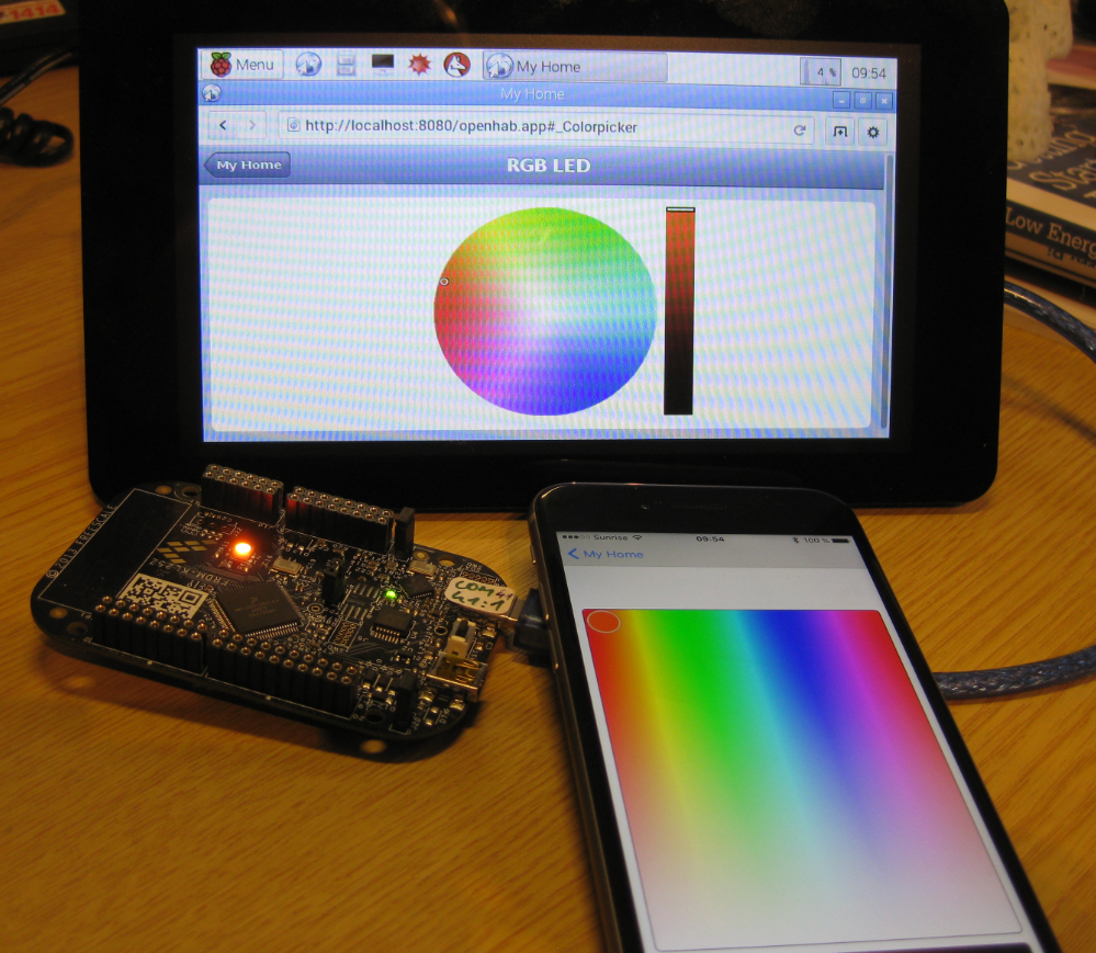 Controlling NXP Freedom Board RGB LED with openHAB and