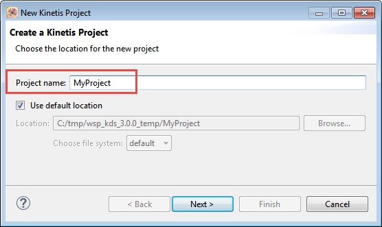 Project Name in Eclipse