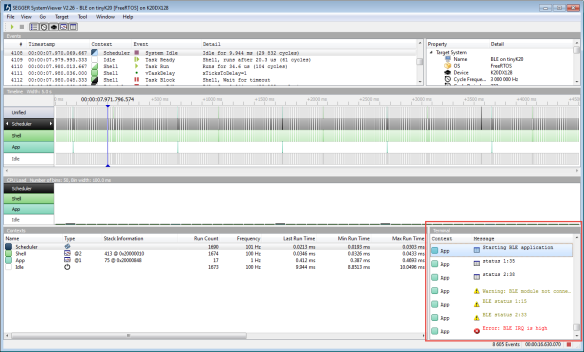Segger SystemView v2.26 with Terminal View