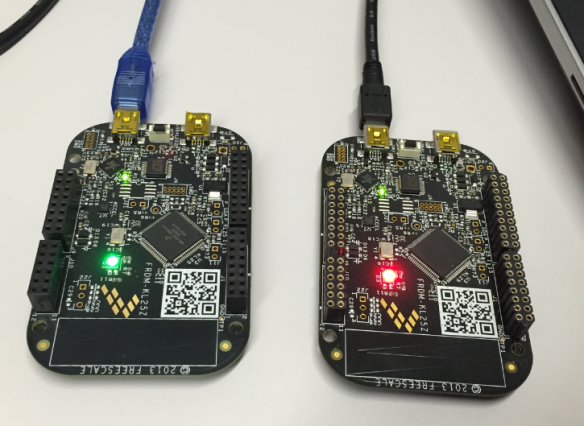 Two NXP Freedom Boards debugged at the same time