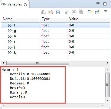 Show Floating Point Variable Bytes in Eclipse CDT | MCU on