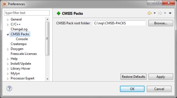 CMSIS Pack folder