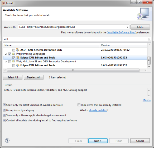 Eclipse XML Editors and Tools