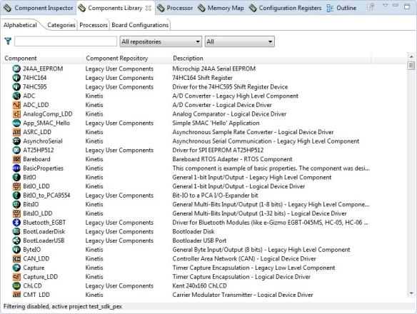 Processor Expert Components
