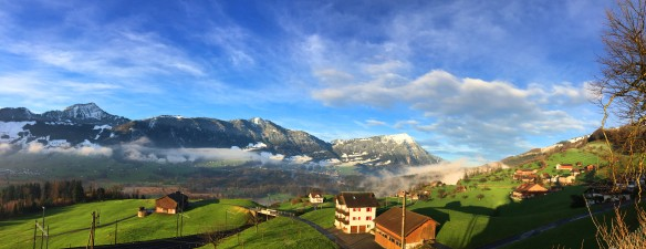 Rigi, Snow and Green