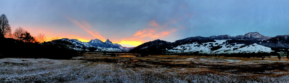 Sunrise Reflections Panorama