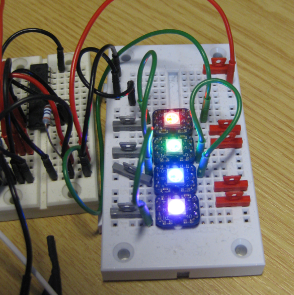 Four NeoPixels with FlexIO