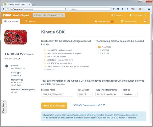 Kinetis SDK for FRDM-KL27Z