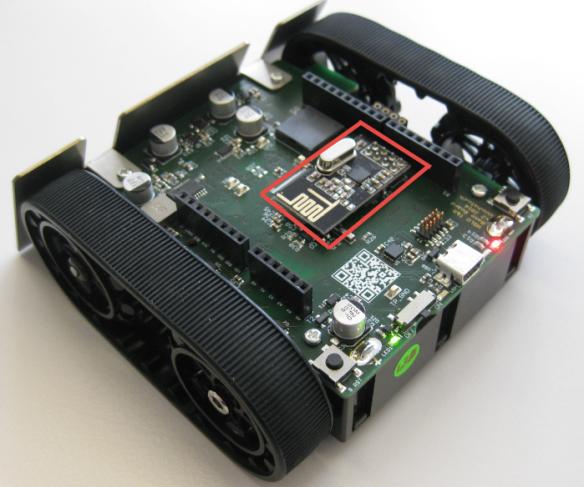 nRF24L01+ on Robot PCB
