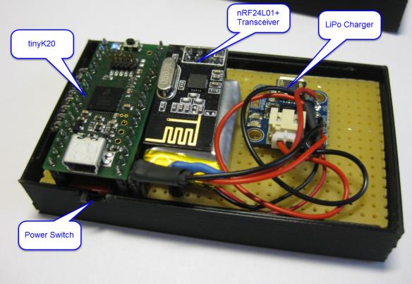 tinyK20 Remote Controller Inside