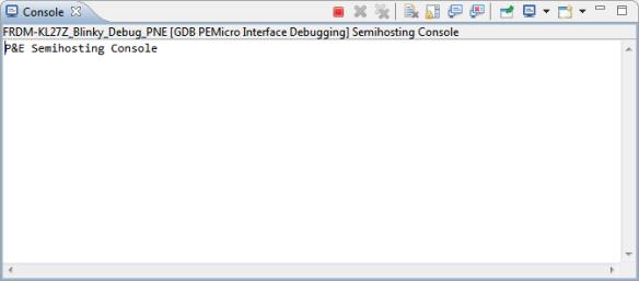 No Semihosting output