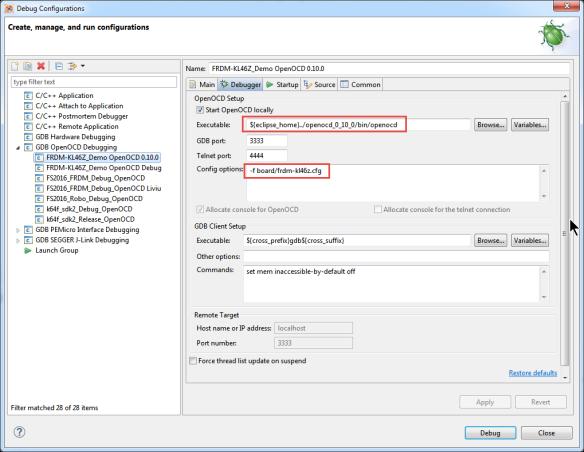 OpenOCD Debug Configuration