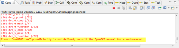 OpenOCD Error about FreeRTOS Symbol not defined