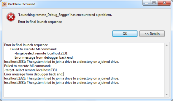 The system tried to join a drive to a directory on a joined drive