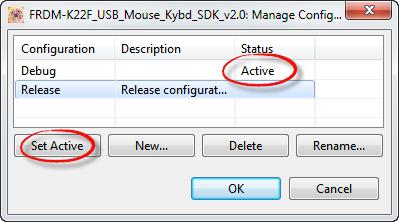 Active Build Configuration