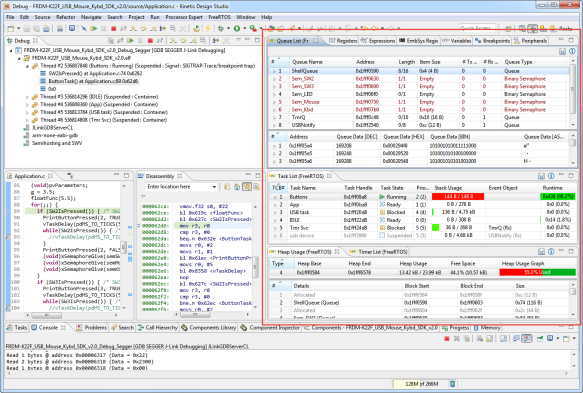NXP FreeRTOS Plugin in Kinetis Design Studio