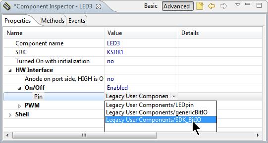 Selecting SDK_BitIO Component