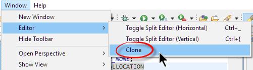 Clone Editor View