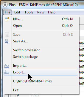 Export in Desktop Pins Tool
