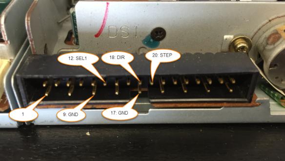 Floppy Drive Data Pins