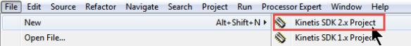 New SDK V2.x Project