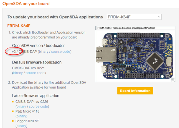 OpenSDA Bootloader Version